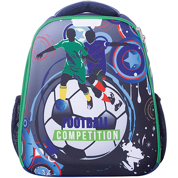 Рюкзак школьный Centrum «Футбол»Школьные рюкзаки<br>Характеристики:<br><br>• материал: нейлон, полиэстер;<br>• размер рюкзака: 31.5х17х37 см;<br>• вес в упаковке: 900 гр;<br>• особенности: без наполнения, лямка, позволяющая повесить рюкзак на крючок, светоотражатели;<br>• спинка: эргономичная жесткая спинка с возможностью регулировать лямки по высоте;<br>• тип застежки: молния;<br>• количество отделений: 2;<br>• количество карманов: 2;<br>• страна бренда: Германия.<br><br>Рюкзак каркасный Centrum (Центрум) «Футбол», черный изготовлен из высокопрочных материалов. Рюкзак хорошо сохраняет форму и защищает содержимое от повреждений.<br><br>Рюкзак имеет  отделение на молнии. Большой карман на молнии и два боковых кармана, имеются светоотражатели. Формоустойчивое облегченное дно позволяет ставить рюкзак на твердую поверхность вертикально.<br><br>Анатомическая рельефная спинка создает максимальный комфорт при носке. Широкие лямки  с мягкими подушечками распределяют нагрузку между плечами и спиной, позволяют легко и быстро отрегулировать рюкзак в соответствии с ростом. Рюкзак оснащен удобной текстильной ручкой для переноски в руке.<br><br>Рюкзак каркасный Centrum (Центрум) «Футбол»  можно купить в нашем интернет-магазине.<br>Ширина мм: 315; Глубина мм: 170; Высота мм: 370; Вес г: 900; Цвет: разноцветный; Возраст от месяцев: 60; Возраст до месяцев: 120; Пол: Мужской; Возраст: Детский; SKU: 8430994;