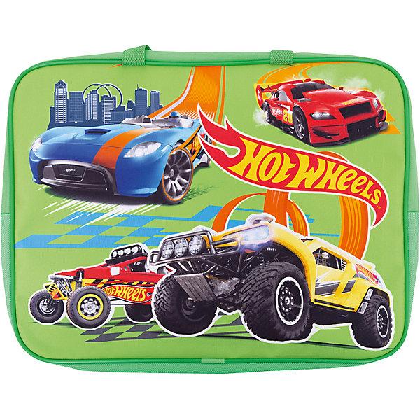Купить Папка-сумка с ручками Centrum «Hot Wheels», А4, зеленый, Россия, Мужской