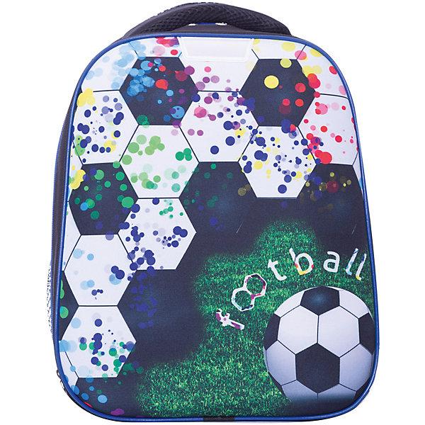 Купить Рюкзак школьный Centrum «Футбол», 1 отделение, черный, Россия, разноцветный, Мужской