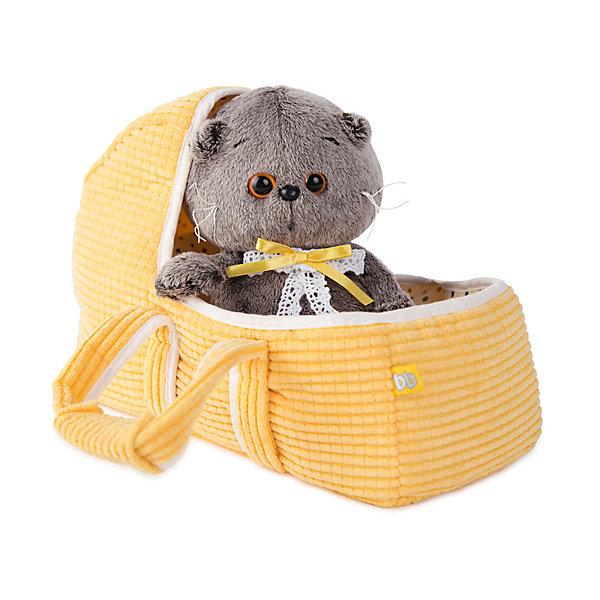Купить Мягкая игрушка Budi Basa Кот Басик Baby в люльке, 20 см, Россия, коричнево-оранжевый, Женский
