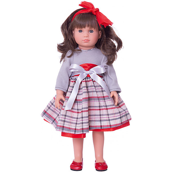 Asi Классическая кукла Asi Нелли в сером платье, 40 см куклы и одежда для кукол asi кукла нелли 43 см 253340