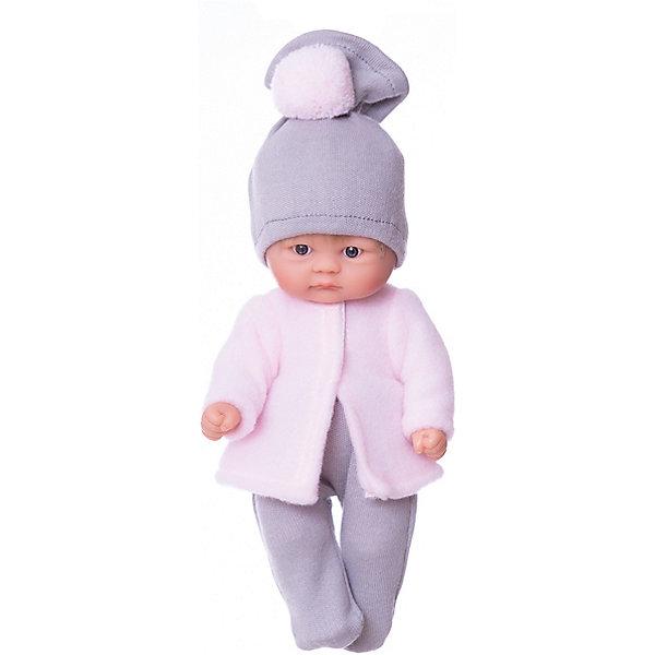 Кукла Asi Пупсик в серо-розовом костюме, 20 смКуклы-пупсы<br>Характеристики:<br><br>• возраст: от 3 лет;<br>• материал: 100% винил, текстиль;<br>• комплектация: кукла, гамаши, кофточка;<br>• высота куклы: 20 см;<br>• вес: 250 гр;<br>• размер: 24x14х7,5 см;<br>• страна бренда: Испания;<br>• бренд:  ASI.<br><br>Кукла ASI «Пупсик», 20 см - новинка Испанского кукольного дома ASI всего 20 см, так и хочется взять ее на ручки и поиграть с ним. У пупсика светлые короткие прошитые волосики, милое личико, выполнен полностью из винила, что позволяет его купать. Малышка выполнена весьма натуралистично с соблюдением пропорций тела, тщательно проработаны все черты лица: выразительные глазки с пушистыми ресницами, пухленькие щёчки.<br><br>Одет пупс в теплую кофточку розового цвета и гамаши серого цвета. Дополнительный аксессуар -шапочка с помпоном в цвет кофточки.  Пупсик упакован в красивую подарочную коробочку!<br><br>Куклу ASI «Пупсик», 20 см можно купить в нашем интернет<br>Ширина мм: 240; Глубина мм: 140; Высота мм: 750; Вес г: 25; Цвет: разноцветный; Возраст от месяцев: 36; Возраст до месяцев: 2147483647; Пол: Женский; Возраст: Детский; SKU: 8433038;