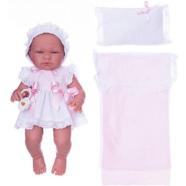 Asi Кукла-реборн Asi Мария в платье и чепчике 45 см, арт 363490