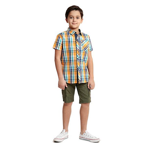 Сорочка PlayToday для мальчикаБлузки и рубашки<br>Характеристики товара:<br><br>• цвет: голубой, оранжевый;<br>• состав ткани: 100% хлопок;<br>• сезон: лето;<br>• застежка: пуговицы;<br>• короткие рукава; <br>• страна бренда: Германия.<br><br>Клетчатая детская сорочка выполнена в традициях классического кроя: прямой силуэт и отложной воротник. Сорочка для ребенка отличается дышащей приятной на ощупь тканью - только натуральный хлопок. Эта сорочка для детей отличается округленным низом - отлично смотрится как надетой навыпуск, так и заправленной. Детская одежда и аксессуары от популярного бренда PlayToday - это стильные модели, помогающие ребенку выглядеть стильно и чувствовать себя комфортно. <br><br>Сорочку PlayToday (ПлэйТудэй) для мальчика можно купить в нашем интернет-магазине.<br>Ширина мм: 174; Глубина мм: 10; Высота мм: 169; Вес г: 157; Цвет: разноцветный; Возраст от месяцев: 36; Возраст до месяцев: 48; Пол: Мужской; Возраст: Детский; Размер: 146/152,104,134/140,122,116,110,128; SKU: 8435610;
