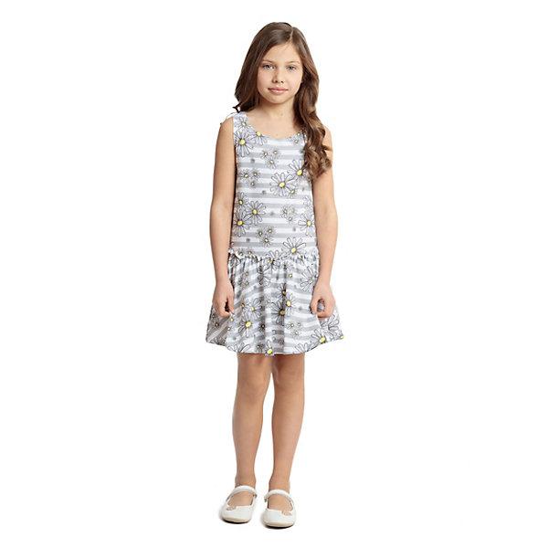 Платье PlayToday для девочкиПлатья и сарафаны<br>Платье PlayToday для девочки<br>Платье, с заниженной талией, на резинке, выполнено из натурального материала. Модель на широких бретелях, дополнено оборкой.<br>Состав:<br>95% хлопок, 5% эластан<br>Ширина мм: 236; Глубина мм: 16; Высота мм: 184; Вес г: 177; Цвет: серый; Возраст от месяцев: 36; Возраст до месяцев: 48; Пол: Женский; Возраст: Детский; Размер: 104,128,146/152,134/140,122,116,110; SKU: 8435808;