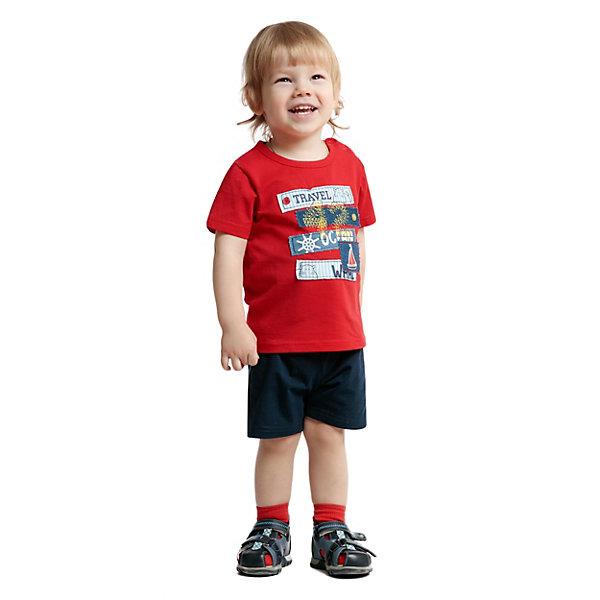 Футболка PlayToday для мальчикаФутболки, поло и топы<br>Характеристики товара:<br><br>• цвет: красный;<br>• состав ткани: 95% хлопок, 5% эластан;<br>• сезон: лето;<br>• застежка: кнопки; <br>• короткие рукава; <br>• страна бренда: Германия.<br><br>Красная детская футболка смотрится оригинально благодаря яркому декору. Футболка для ребенка отличается дышащей приятной на ощупь тканью, содержащей натуральный хлопок. Эта футболка для детей дополнена кнопками на плече и мягкой резинкой на горловине. Детская одежда и аксессуары от популярного бренда PlayToday - это стильные модели, помогающие ребенку выглядеть стильно и чувствовать себя комфортно. <br><br>Футболку PlayToday (ПлэйТудэй) для мальчика можно купить в нашем интернет-магазине.<br>Ширина мм: 199; Глубина мм: 10; Высота мм: 161; Вес г: 151; Цвет: красный; Возраст от месяцев: 6; Возраст до месяцев: 9; Пол: Мужской; Возраст: Детский; Размер: 74,86,80,98,92; SKU: 8435894;