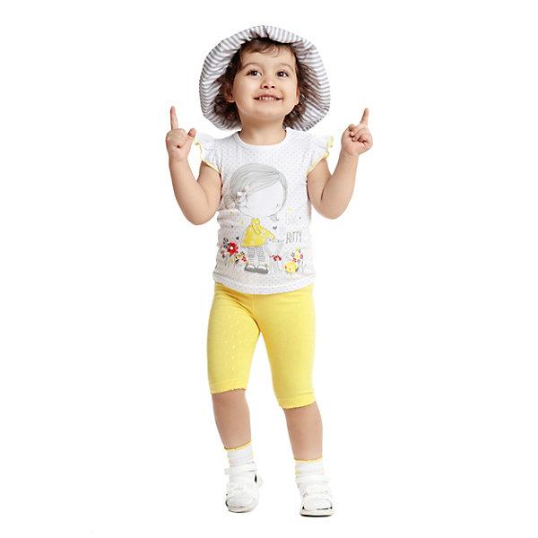 Майка PlayToday для девочкиФутболки, поло и топы<br>Майка PlayToday для девочки<br>Майка выполнена из натурального трикотажа. Пройма рукавов оформлена крылышками. Модель декорирована водным принтом и аппликациями.<br>Состав:<br>95% хлопок, 5% эластан<br>Ширина мм: 199; Глубина мм: 10; Высота мм: 161; Вес г: 151; Цвет: белый; Возраст от месяцев: 6; Возраст до месяцев: 9; Пол: Женский; Возраст: Детский; Размер: 74,80,98,92,86; SKU: 8435910;