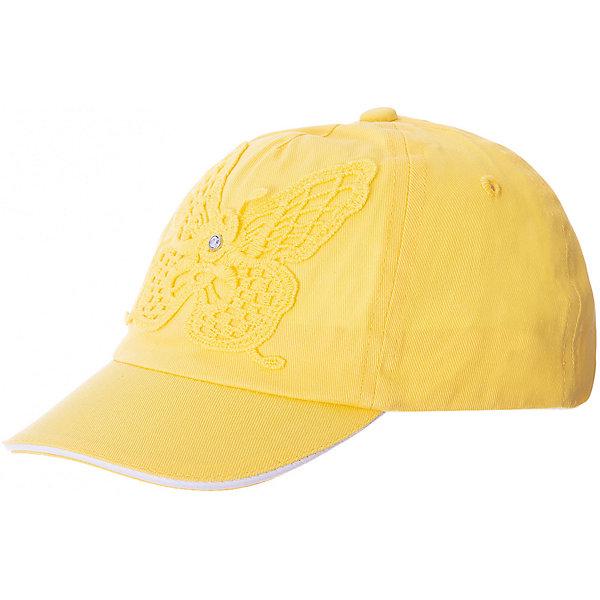 Купить Кепка PlayToday для девочки, желтый, 48, 46, 50, Женский