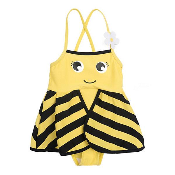 Купальник PlayToday для девочкиКупальники и плавки<br>Купальник PlayToday для девочки<br>Слитный купальный выполнен из смесового быстросохнущего материала в виде пчелки. Модель с удобными регулируемыми бретелями. Встрочная деталь - пелерина создает эффект крылышек.<br>Состав:<br>80% полиэстер, 20% эластан<br>Ширина мм: 183; Глубина мм: 60; Высота мм: 135; Вес г: 119; Цвет: желтый; Возраст от месяцев: 18; Возраст до месяцев: 24; Пол: Женский; Возраст: Детский; Размер: 92,86,80,74,98; SKU: 8435998;