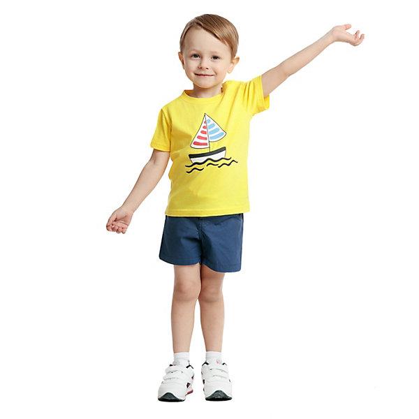 Футболка PlayToday для мальчикаФутболки, поло и топы<br>Характеристики товара:<br><br>• цвет: желтый;<br>• состав ткани: 95% хлопок, 5% эластан;<br>• сезон: лето;<br>• застежка: кнопки; <br>• короткие рукава; <br>• страна бренда: Германия.<br><br>Эта детская футболка смотрится оригинально благодаря яркому принту. Футболка для ребенка отличается дышащей приятной на ощупь тканью, содержащей натуральный хлопок. Эта футболка для детей дополнена кнопками на плече и мягкой резинкой на горловине. Детская одежда и аксессуары от популярного бренда PlayToday - это стильные модели, помогающие ребенку выглядеть стильно и чувствовать себя комфортно. <br><br>Футболку PlayToday (ПлэйТудэй) для мальчика можно купить в нашем интернет-магазине.<br>Ширина мм: 199; Глубина мм: 10; Высота мм: 161; Вес г: 151; Цвет: желтый; Возраст от месяцев: 12; Возраст до месяцев: 18; Пол: Мужской; Возраст: Детский; Размер: 86,92,74,80,98; SKU: 8436021;