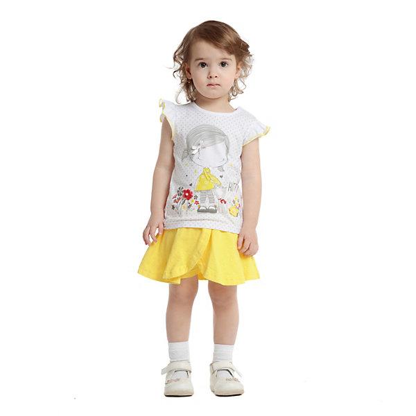 Купить Юбка-шорты PlayToday для девочки, желтый, 74, 86, 80, 98, 92, Женский