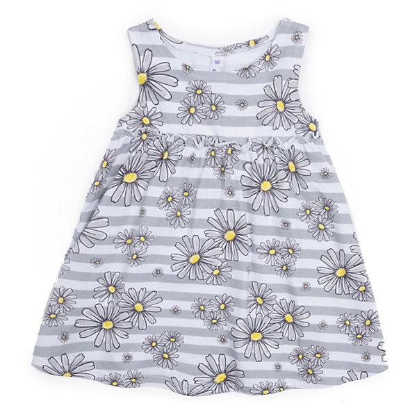 Платье PlayToday для девочкиПлатья и сарафаны<br>Характеристики товара:<br><br>• цвет: серый;<br>• состав ткани: 100% хлопок;<br>• сезон: лето;<br>• застежка: кнопки; <br>• короткие рукава; <br>• страна бренда: Германия.<br><br>Легкое модное платье для детей отличается оригинальным силуэтом с завышенной талией и расклешенной юбкой. Принтованное детское платье, выполненное в универсальном летнем цвете, может стать отличным вариантом удобной одежды для теплой погоды. Платье для ребенка выполнено из легкого хлопкового трикотажа. Детские товары от известного бренда PlayToday пользуются популярностью у родителей благодаря высокому качеству и удобству.<br><br>Платье PlayToday (ПлэйТудэй) для девочки можно купить в нашем интернет-магазине.<br>Ширина мм: 236; Глубина мм: 16; Высота мм: 184; Вес г: 177; Цвет: разноцветный; Возраст от месяцев: 24; Возраст до месяцев: 36; Пол: Женский; Возраст: Детский; Размер: 98,86,80,92,74; SKU: 8436107;