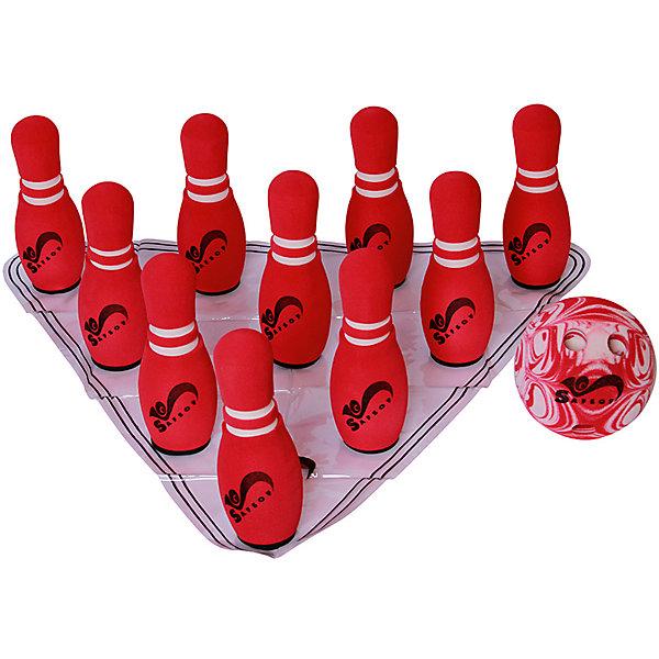 Игровой набор Safsof Мини-боулинг, в сумкеКольцебросы и боулинг<br>Характеристики:<br><br>• возраст: от 3 лет<br>• в наборе: 10 кеглей, мяч с отверстиями для пальцев<br>• высота кеглей: 21 см.<br>• диаметр кеглей: 7,5 см.<br>• диаметр мяча: 13 см.<br>• материал: вспененная резина<br>• упаковка: сумка<br>• размер упаковки: 43,5х22х12,5 см.<br>• вес: 1,16 кг.<br>• производитель: SafSof. Тайланд<br><br>Игра мини-боулинг отличный вариант для подвижных активных игр на открытом воздухе или в помещении.<br><br>Цель игры сбить шаром максимальное количество кеглей и набрать большее количество очков. Число игроков и количество туров - произвольное. Очки, набранные с каждым броском мяча, равны количеству сбитых кегель. Расстояние, с которого совершается бросок, определяется игроками.<br><br>Игра развивает ловкость, меткость и координацию движений, а также помогает в укреплении общефизического состояния.<br><br>Набор изготовлен из безопасного, экологически чистого, легкого и мягкого материала - вспененной резины. За счет его легкости и мягкости, в боулинг можно играть в помещении, не боясь, что мяч или кегли повредят мебель и стекло.<br><br>Набор упакован в прозрачную сумку на молнии, в которой его удобно хранить и переносить..<br><br>Игру мини-боулинг в сумке Safsof, 210мм можно купить в нашем интернет-магазине.<br>Ширина мм: 435; Глубина мм: 220; Высота мм: 125; Вес г: 1160; Цвет: красный; Возраст от месяцев: 36; Возраст до месяцев: 2147483647; Пол: Унисекс; Возраст: Детский; SKU: 8439272;