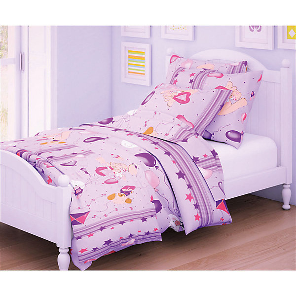 Letto Детское постельное белье 3 предмета Letto, простыня на резинке, BGR-62 simon mignon детское постельное белье
