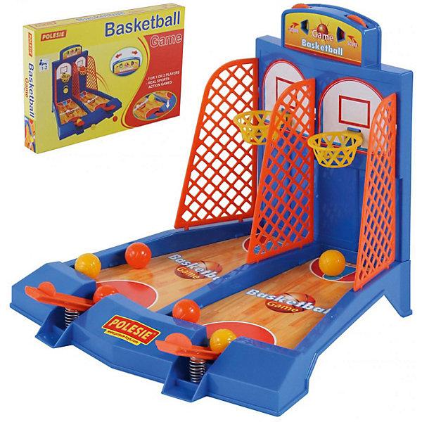Настольная игра Полесье Баскетбол, в коробкеНастольные игры для всей семьи<br>Характеристики:<br><br>• возраст: от 3 лет;<br>• материал: пластик;<br>• в наборе: игра, 6 мячей;<br>• размер игрушки: 28х24,5х22 см;<br>• вес упаковки: 4,2 кг.;<br>• размер упаковки: 41,5х50х28 см;<br>• страна бренда: Беларусь.<br><br>В игру Polesie «Баскетбол» можно играть сразу вдвоем. Площадка разделена на две части для каждого игрока. В распоряжении детей окажется по три мячика, которые нужно забросить в кольцо. <br><br>Сделать это нужно с помощью платформы на пружинке. Нажав на платформу, мячик улетит вверх. Победит тот, кто наберет больше очков. Подсчет очков осуществляется на табло над кольцами. Игра сделана из качественных материалов.<br><br>Игру «Баскетбол» для 2-х игроков (в коробке) можно купить в нашем интернет-магазине.<br>Ширина мм: 415; Глубина мм: 50; Высота мм: 280; Вес г: 50; Цвет: разноцветный; Возраст от месяцев: 36; Возраст до месяцев: 2147483647; Пол: Унисекс; Возраст: Детский; SKU: 8444114;