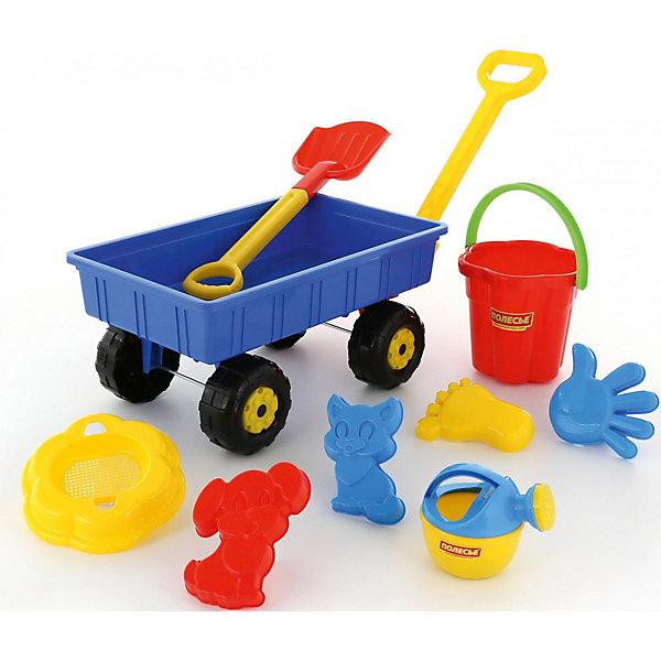 Набор игрушек для песочницы Полесье №382 Тележка Дачная 8 предметовИграем в песочнице<br>Характеристики:<br><br>• возраст: от 2 лет;<br>• материал: пластик;<br>• в наборе: 4 формочки, ведерко с крышкой-ситом, лейка, лопатка, тележка; <br>• вес упаковки: 300 гр.;<br>• размер упаковки: 60,5х29,7х34 см;<br>• страна бренда: Беларусь;<br>• цвет в ассортименте.<br><br>Внимание! Товар в ассортименте. Выбрать конкретный цвет заранее невозможно.<br><br>Набор №382 от «Полесье» предназначен для игр в песочнице, на пляже и даже дома, если использовать кинетический песок. В распоряжении ребенка тележка с ручкой, чтобы возить песок, несколько формочек, лейка и лопатка с ведерком. <br><br>Все игрушки сделаны из прочного качественного пластика, отличаются яркими цветами и легким весом.<br><br>Набор №382 можно купить в нашем интернет-магазине.<br>Ширина мм: 605; Глубина мм: 297; Высота мм: 340; Вес г: 297; Цвет: разноцветный; Возраст от месяцев: 36; Возраст до месяцев: 2147483647; Пол: Унисекс; Возраст: Детский; SKU: 8444116;