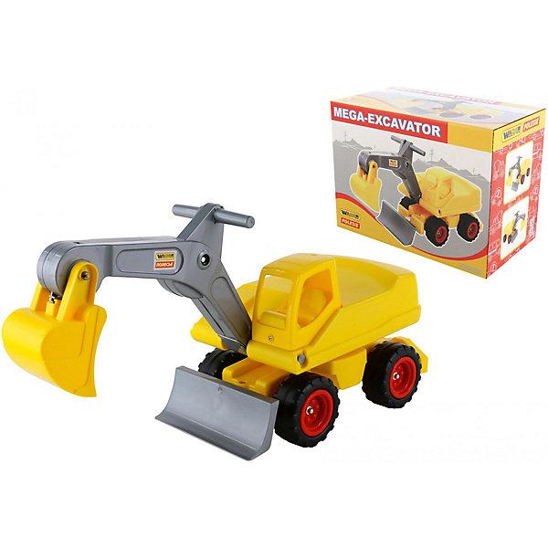 Большая машинка Полесье Мега-экскаватор колёсный, в коробкеМашинки<br>Характеристики:<br><br>• возраст: от 3 лет;<br>• материал: пластик;<br>• размер игрушки: по стреле 79х27х42,3 см, по ковшу 88х27х42 см;<br>• вес упаковки: 305 гр.;<br>• размер упаковки: 54,5х30,5х40,5 см;<br>• страна бренда: Беларусь.<br><br>Мега-экскаватор Wander Toys Polesie – большая игрушка для игр в песочнице, на улице и дома. Экскаватор выдерживает вес детей дошкольного возраста, поэтому также служит каталкой. На игрушке предусмотрено сиденье для ребенка, на стреле есть ручки, за которые можно держаться и управлять ковшом.<br><br>Кроме того, в кабину водителя можно посадить подходящую по размеру фигурку. Игрушка поставляет со сборными элементами. Сделано из прочного качественного пластика.<br><br>Мега-экскаватор колёсный (в коробке) можно купить в нашем интернет-магазине.<br>Ширина мм: 545; Глубина мм: 305; Высота мм: 405; Вес г: 305; Цвет: желтый; Возраст от месяцев: 36; Возраст до месяцев: 2147483647; Пол: Мужской; Возраст: Детский; SKU: 8444134;