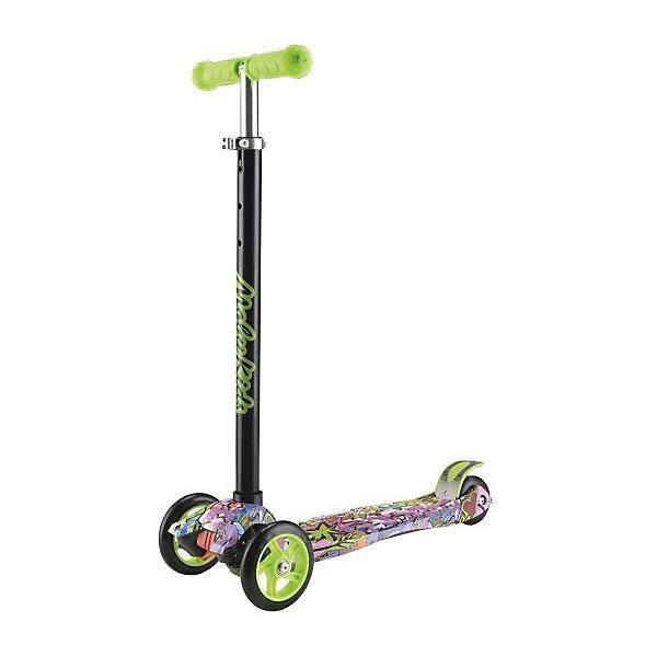 Самокат Moby Kids Junior 3.0, 120 мм PU, зеленый с принтомСамокаты<br>Характеристики товара:<br><br>• возраст: от 3 лет;<br>• из чего сделана игрушка (состав): алюминий, полиуретан, пластик;<br>• высота рулевой стойки: 65 - 87 см.;<br>• размер платформы: 32х13,5 см.;<br>• тормоз: ножной;<br>• колеса: полиуретан;<br>• количество колес: 3;<br>• максимальная нагрузка: 50 кг.;<br>• диаметр передних колес: 12 см.; <br>• материал колес: полиуретан;<br>• размер упаковки: 56,5х14,5х29 см.;<br>• вес: 2,716 кг.<br><br>Самокат Moby kids «Junior 3,0»  это надежный и устойчивый трехколесный самокат, поворот которого осуществляется путем наклона руля в необходимую сторону. <br><br>Модель имеет достаточно широкую платформу, прочный, выполненный из алюминия руль с тремя вариантами установки высоты и мягкими ручками-грипсами. <br><br>Остановка осуществляется благодаря широкому ножному тормозу, расположенному над задним колесом. <br><br>Колеса изготовлены из полиуретана, это прочный и упругий материал, который обеспечивает дополнительную амортизацию во время езды, а также тихий и легкий ход самоката. <br><br>Дека модели декорирована ярким оригинальным принтом, который позволит ребенку выгодно выделяться из толпы. <br>  <br>Самокат Moby Kids «Junior 3,0» можно купить в нашем интернет-магазине.<br>Ширина мм: 565; Глубина мм: 145; Высота мм: 290; Вес г: 2716; Цвет: зеленый; Возраст от месяцев: 36; Возраст до месяцев: 2147483647; Пол: Унисекс; Возраст: Детский; SKU: 8445844;