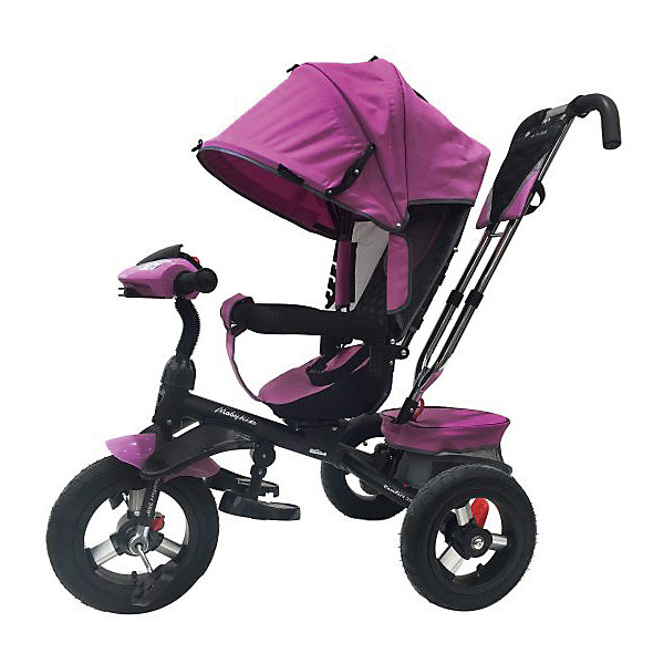 Moby Kids Трехколесный велосипед Moby Kids Comfort 360° AIR, 12x10, лиловый