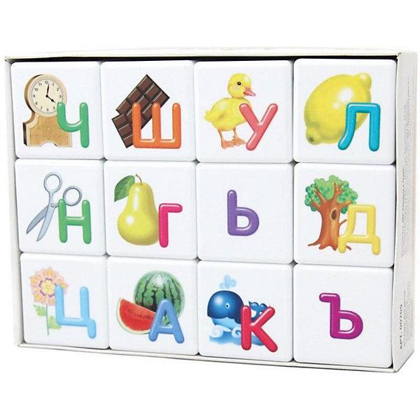 Десятое королевство Кубики Десятое королевство Учись играя Азбука для самых маленьких 12 шт., без обклейки alatoys кубики азбука окрашенные 12 шт кба1202