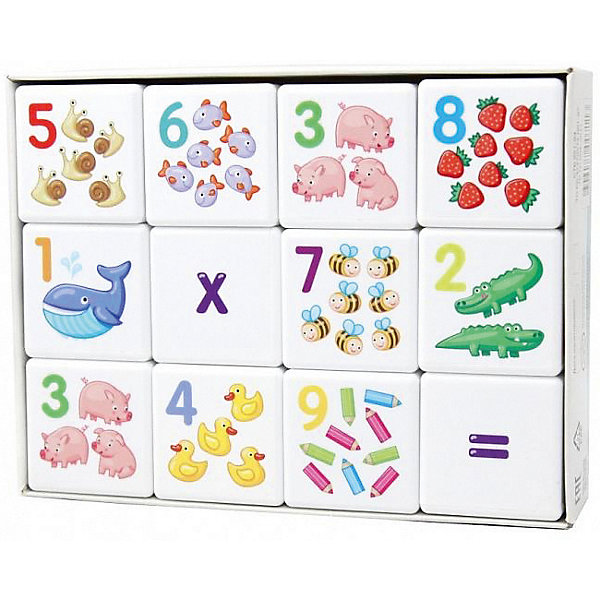 Десятое королевство Кубики для умников Арифметика 12 шт., без обклейки