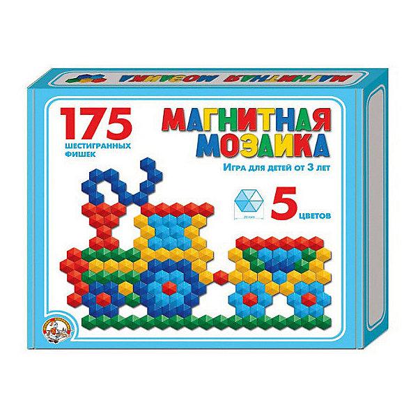 Магнитная мозаика Десятое королевство шестигранная, 175 элементовОбучающие игры<br>Характеристики:<br><br>• возраст: от 3 лет;<br>• ISBN: 4606088009599;<br>• материал: пластик;<br>• комплектация: 175 эл.;<br>• вес: 5,5 кг;<br>• размер: 23х20х3,5 см;<br>• страна бренда: Россия;<br>• бренд: Десятое королевство.<br><br>Мозаика магнитная шестигранная d20/5 цв/175 эл – увлекательная игра для детей от 3 лет и старше. Собирая мозаику, ребенок развивает художественное воображение и творческие навыки, учится усидчивости, тренирует мелкую моторику рук.<br><br>Мозаику магнитную  шестигранная d20/5 цв/175 эл можно  купить в нашем интернет-магазине.<br>Ширина мм: 230; Глубина мм: 200; Высота мм: 35; Вес г: 250; Цвет: разноцветный; Возраст от месяцев: 36; Возраст до месяцев: 60; Пол: Унисекс; Возраст: Детский; SKU: 8447334;