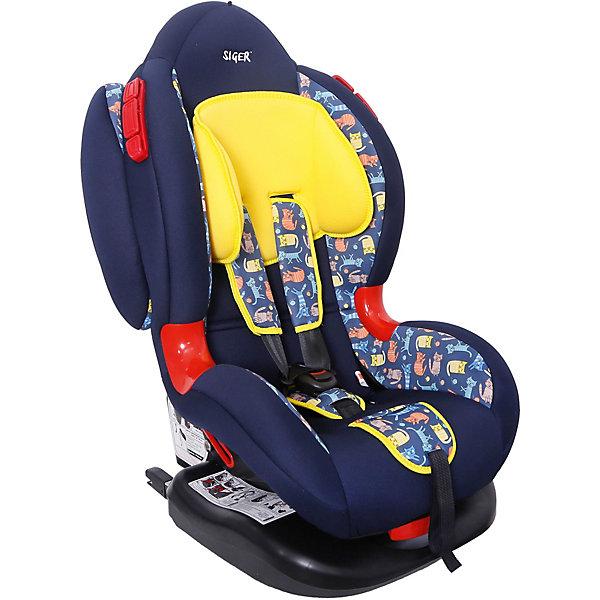 Siger Автокресло Siger Кокон Isofix, 9-25 кг, Котики детское автомобильное кресло siger кокон isofix крес0119