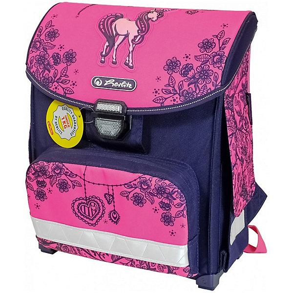 Купить Ранец Herlitz SMART Unicorn Day, без наполнения, Германия, розовый/розовый, Женский