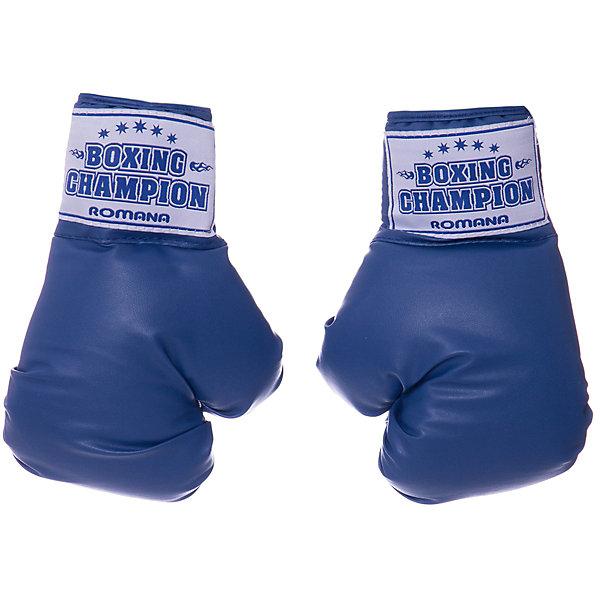 ROMANA Боксерские перчатки Romana, для детей 7-10 лет, 6 унциий перчатки боксерские green hill dove цвет синий белый вес 10 унций bgd 2050