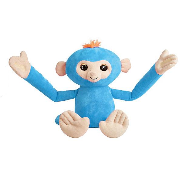 WowWee Обезьянка-обнимашка Fingerlings, голубая