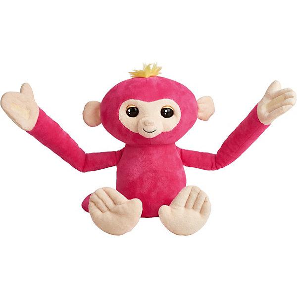 WowWee Обезьянка-обнимашка Fingerlings, розовая