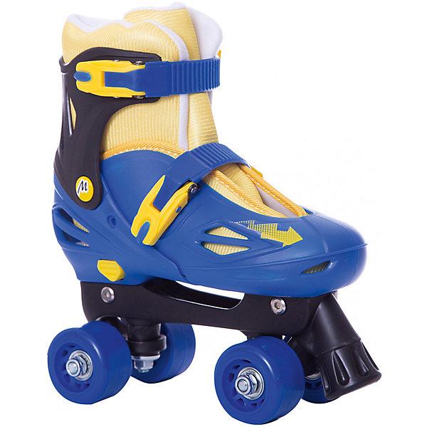 Moby Kids Роликовые коньки-квады Moby Kids сине-желтые ролики квады