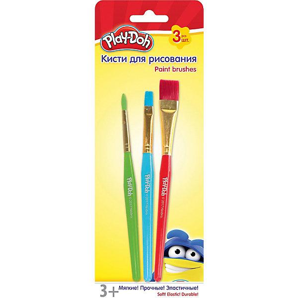 Darpeje Набор кистей для рисования Darpeje Play-Doh, 3 шт. принадлежности для рисования спейс набор кистей 10 шт