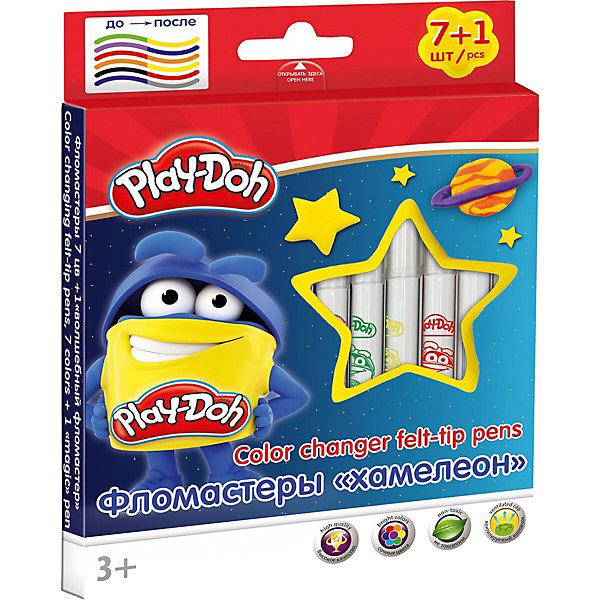 Набор фломастеров Darpeje Play-Doh, 8 цветовФломастеры<br>Характеристики:<br><br>• двусторонние фломастеры;<br>• 7 цветов + 1 волшебный фломастер;<br>• сочные цвета;<br>• увеличенное содержание чернил, <br>• улучшенный пишущий узел;<br>• вентилируемый, прозрачный колпачок;<br>• размер одного фломастера 13,7 х 1,44 см (с колпачком);<br>• материал: высококачественный нетоксичный пластик, нейлоновый стержень;<br>• размер упаковки: 16х8х1 см;<br>• упаковка – картонная коробка европодвесом.<br><br>Фломастеры для рисования и раскрашивания. Привычные цвета меняют свой цвет если по ним провести «волшебный фломастером». <br><br>Двусторонние фломастеры Darpeje «Play-Doh», 8 цветов можно купить в нашем интернет-магазине.