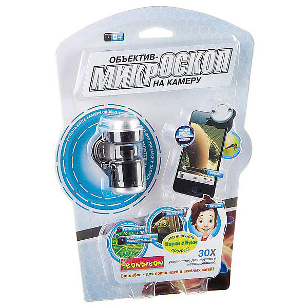 "Картинка для Bondibon Развивающая игрушка Bondibon ""Объектив-микроскоп на камеру смартфона"""