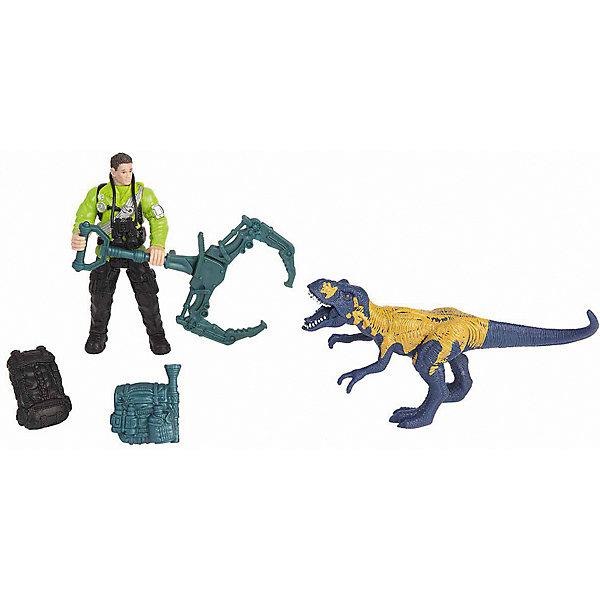 Chap Mei Набор Chap Mei Динозавр Мегалозавр и ловец динозавров игровые фигурки happy kin набор динозавров 41093