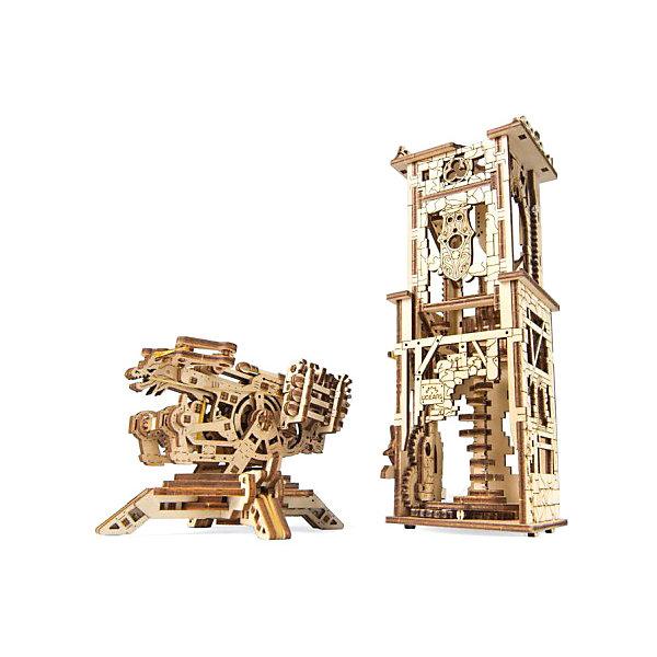 Сборная модель Ugears Башня-аркбаллистаДеревянные модели<br>Характеристики товара:<br><br>• возраст: от 14 лет;<br>• материал: дерево;<br>• количество деталей: 292;<br>• размер модели: 15,3х9,5х9,6 см;<br>• размер упаковки: 37х17х2,7 см;<br>• вес упаковки: 890 гр.;<br>• страна бренда: Украина.<br><br>Сборная модель Ugears Башня-аркбаллиста включает в себя две подвижных и очень детализированных модели: саму осадную машину, аркбаллисту, и механическую башню.<br><br>Аркбаллиста состоит из двух модулей: блок стрельбы и основа с регулируемыми опорами, стабилизирующие машину в процессе стрельбы. <br><br>Шестеренка сбоку башни - это часть механизма, который поднимает верхний уровень, демонстрируя Вам спиральную лестницу и интерьер постройки.<br><br>Собирается модели по пошаговой иллюстрированной инструкции с пояснениями. Изготовлено из экологически чистых материалов.<br><br>Сборная модель Ugears Башня-аркбаллиста можно купить в нашем интернет-магазине.<br>Ширина мм: 370; Глубина мм: 170; Высота мм: 27; Вес г: 890; Цвет: разноцветный; Возраст от месяцев: 168; Возраст до месяцев: 2147483647; Пол: Унисекс; Возраст: Детский; SKU: 8487831;