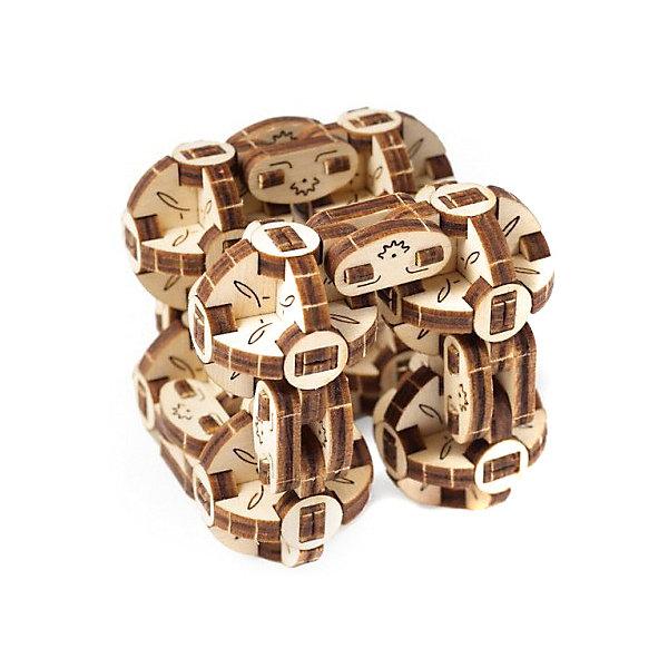 Сборная модель Ugears СферокубДеревянные модели<br>Характеристики товара:<br><br>• возраст: от 14 лет;<br>• материал: дерево;<br>• количество деталей: 144;<br>• размер модели: 11,5х6х2,8 см;<br>• размер упаковки: 27,8х8,5х0,5 см;<br>• вес упаковки: 99 гр.;<br>• страна бренда: Украина.<br><br>Сферокуб - это механическая антистрессовая головоломка в виде кубика, сделанного из восьми соединенных друг с другом сфер. Специальное гибкое соединение позволяет сферам перемещаться и перекатываться друг над другом, создавая различные геометрические формы.<br><br>Каждая сфера представляет собой искусно сделанный мини-механизм, состоящий из шести сегментов с шарнирным соединением. Игрушка легко превращается в прямоугольник или трёхмерный куб.<br><br>Собирается модели по пошаговой иллюстрированной инструкции с пояснениями. Изготовлено из экологически чистых материалов.<br><br>Сборная модель Ugears Сферокуб можно купить в нашем интернет-магазине.<br>Ширина мм: 278; Глубина мм: 185; Высота мм: 5; Вес г: 99; Цвет: разноцветный; Возраст от месяцев: 168; Возраст до месяцев: 2147483647; Пол: Унисекс; Возраст: Детский; SKU: 8487835;