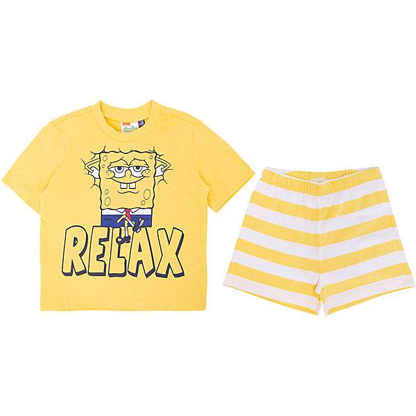 Пижама Original Marines для мальчикаПижамы и сорочки<br>Характеристики товара:<br><br>• цвет: желтый;<br>• комплектация: футболка, шорты;<br>• состав ткани: 100% хлопок;<br>• сезон: круглый год;<br>• талия: резинка;<br>• короткие рукава;<br>• страна бренда: Италия.<br><br>Хлопковая детская пижама от Original Marines украшена принтом с Губкой Бобом, которого так любят современные дети. Симпатичная детская пижама легко надевается благодаря эластичному материалу, она создает комфортные условия на протяжении всей ночи и позволяет коже дышать. Шорты от пижамы для ребенка не давят на живот - в них мягкая резинка. Пижама для детей от итальянского бренда Original Marines - качественная и удобная вещь, созданная европейскими дизайнерами.<br><br>Пижаму Original Marines (Ориджинал Маринс) для мальчика можно купить в нашем интернет-магазине.<br>Ширина мм: 281; Глубина мм: 70; Высота мм: 188; Вес г: 295; Цвет: желтый; Возраст от месяцев: 72; Возраст до месяцев: 72; Пол: Мужской; Возраст: Детский; Размер: 116,92,104; SKU: 8492342;