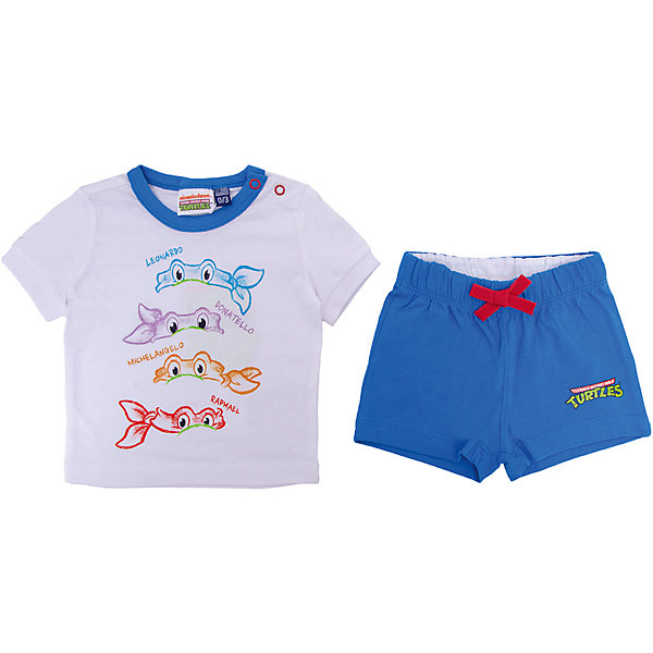 Комплект :футболка,шорты Original Marines для мальчикаКомплекты<br>Характеристики товара:<br><br>• цвет: белый/голубой<br>• пол: мальчики<br>• комплектация: футболка и шорты<br>• состав ткани: 100% хлопок<br>• сезон: лето<br>• особенности модели: спортивный стиль<br>• пояс: резинка на шнурке<br>• кнопки на воротнике<br>• комфорт и качество<br>• печатный принт<br>• страна бренда: Италия<br><br>Яркий комплект из футболки и шорт идеален для активных летних прогулок. Комплект для ребенка сделан из натурального качественного материала. Детский комплект комфортно сидит, не вызывает неудобств. Детская футболка легко надевается благодаря кнопкам на воротнике, шорты дополнены эластичной резинкой и шнурком. Итальянский бренд Original Marines - это стильный продуманный дизайн и неизменно высокое качество исполнения. <br><br>Комплект: футболка и шорты Original Marines (Ориджинал Маринс) для мальчика можно купить в нашем интернет-магазине.