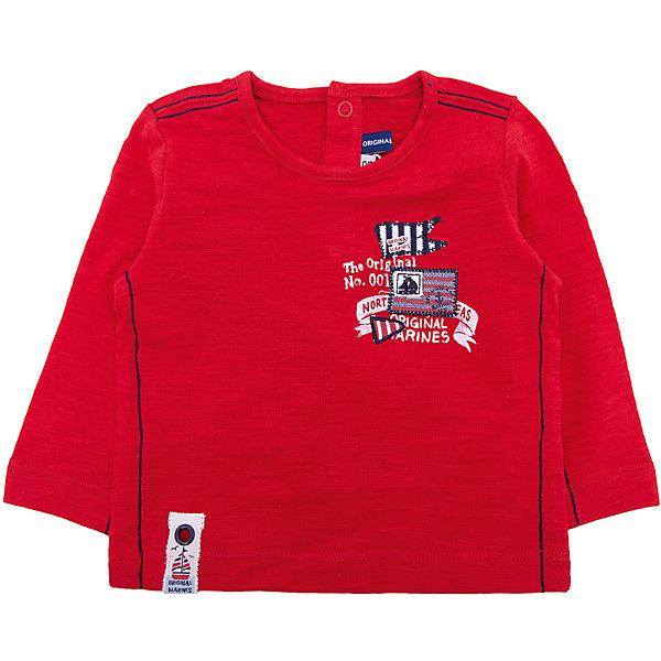 Купить Футболка с длинным рукавом Original Marines для мальчика, Россия, красный, 68/74, 80, 86, 62/68, 56/62, Мужской