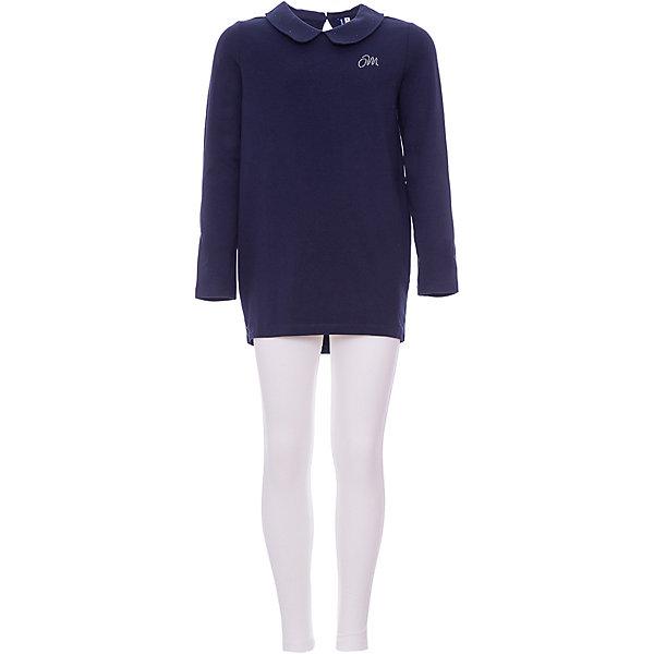 Костюм:футболка с длинным рукавом,леггинсы Original Marines для девочкиКомплекты<br>Характеристики товара:<br><br>• цвет: белый/синий<br>• пол: девочки<br>• комплектация: футболка и леггинсы<br>• состав ткани-лосины: 95% хлопок 5% эластан<br>• состав ткани-футболка:100% хлопок <br>• сезон: круглый год<br>• длинные рукава<br>• пояс: резинка<br>• комфорт и качество<br>• печатный принт<br>• страна бренда: Италия<br><br>Практичный комплект из футболки с длинным рукавом и леггинс идеален для активных прогулок, а также в качестве домашней одежды. Комплект сделан из натурального качественного материала. Футболка с длинными рукавами немного удлиненного кроя. Вещи из это функционального комплекта можно носить по отдельности. Детский комплект комфортно сидит, не вызывает неудобств. Итальянский бренд Original Marines - это стильный продуманный дизайн и неизменно высокое качество исполнения. <br><br>Комплект: футболку и леггинсы Original Marines (Ориджинал Маринс) для девочки можно купить в нашем интернет-магазине.<br>Ширина мм: 230; Глубина мм: 40; Высота мм: 220; Вес г: 250; Цвет: темно-синий; Возраст от месяцев: 96; Возраст до месяцев: 96; Пол: Женский; Возраст: Детский; Размер: 128,140; SKU: 8492465;