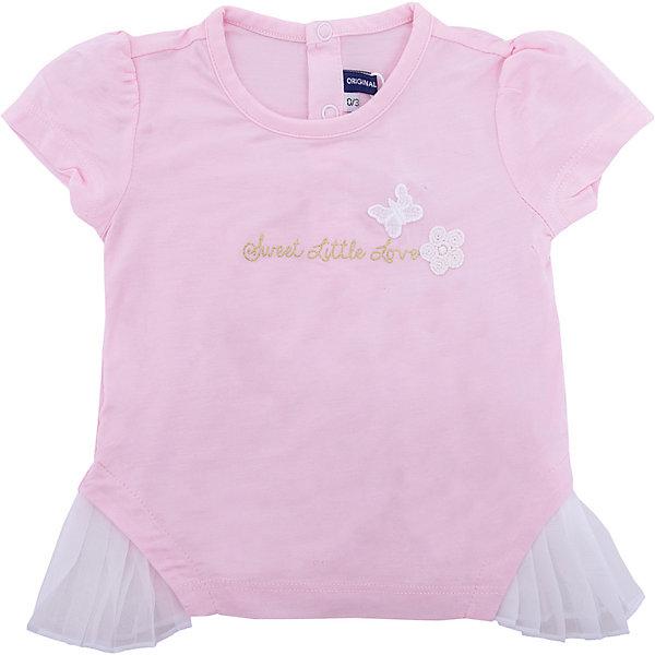 Футболка Original Marines для девочкиФутболки, поло и топы<br>Характеристики товара:<br><br>• цвет: розовый;<br>• состав ткани: 95% модал, 5% эластан;<br>• сезон: лето;<br>• застежка: кнопки;<br>• короткие рукава;<br>• страна бренда: Италия.<br><br>Розовая легкая футболка для детей - универсальная и комфортная одежда для теплого сезона. Эта футболка для ребенка украшена оригинальным модным декором специально для девочек. Детская футболка благодаря качественному материалу создает оптимальные условия для того, чтобы ребенок чувствовал себя комфортно весь день. Вещи для детей от итальянского бренда Original Marines отличаются высоким качеством и стильным европейским дизайном.<br><br>Футболку Original Marines (Ориджинал Маринс) для девочки можно купить в нашем интернет-магазине.<br>Ширина мм: 199; Глубина мм: 10; Высота мм: 161; Вес г: 151; Цвет: розовый; Возраст от месяцев: 3; Возраст до месяцев: 6; Пол: Женский; Возраст: Детский; Размер: 62/68,86,80,68/74,56/62; SKU: 8492499;