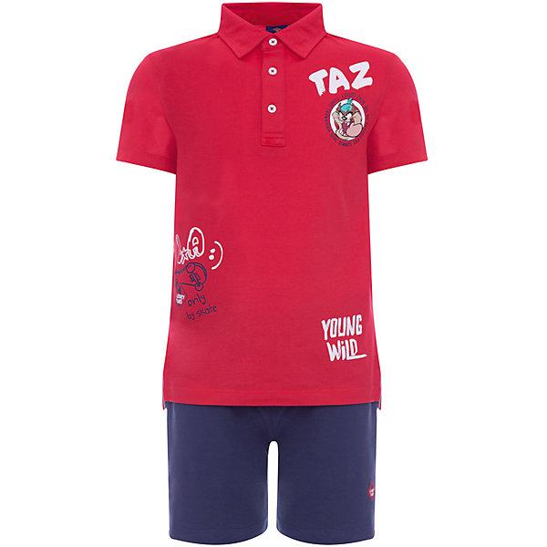 Комплект :футболка-поло,шорты Original Marines для мальчикаКомплекты<br>Характеристики товара:<br><br>• цвет: красный;<br>• комплектация: футболка-поло, шорты; <br>• состав ткани: 100% хлопок;<br>• сезон: лето;<br>• застежка: пуговицы;<br>• пояс: резинка;<br>• короткие рукава;<br>• страна бренда: Италия.<br><br>Удобный и модный детский комплект состоит из двух вещей: футболки-поло и шорт. Комплект для ребенка сделан из натурального качественного материала - дышащего гипоаллергенного хлопка. Детский костюм может носиться как удобная повседневная одежда или надеваться для особых случаев - он выглядит стильно и аккуратно. Итальянский бренд Original Marines - это детская одежда, известная высоким качеством и европейским стилем.<br><br>Комплект Original Marines (Ориджинал Маринс) для мальчика можно купить в нашем интернет-магазине.<br>Ширина мм: 199; Глубина мм: 10; Высота мм: 161; Вес г: 151; Цвет: красный; Возраст от месяцев: 72; Возраст до месяцев: 72; Пол: Мужской; Возраст: Детский; Размер: 116,92,104; SKU: 8492579;