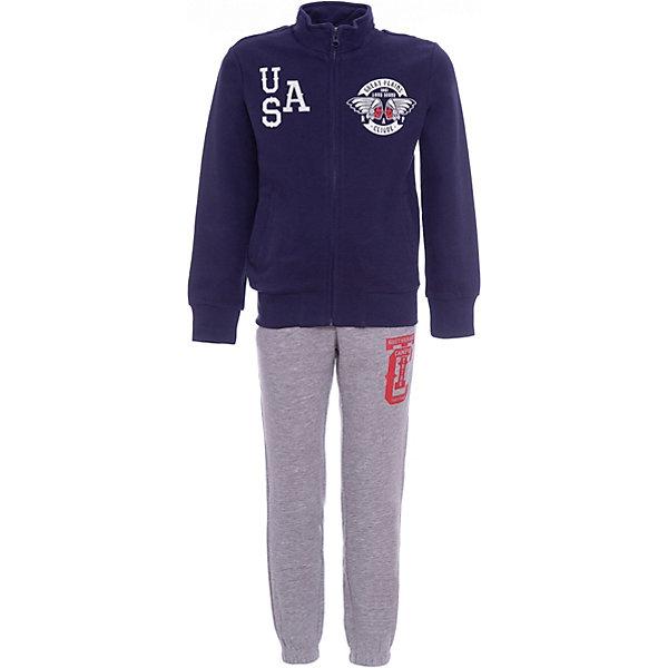 Спортивный костюм Original Marines для мальчикаСпортивная одежда<br>Характеристики товара:<br><br>• цвет: синий/серый<br>• пол: мальчики<br>• комплектация: толстовка  и брюки<br>• состав ткани: 100% хлопок<br>• сезон: круглый год<br>• застежка: молния<br>• рукава и брюки  с манжетами<br>• воротник: стойка<br>• длинные рукава<br>• пояс: резинка<br>• яркий набивной принт<br>• особенности модели: спортивный стиль<br>• страна бренда: Италия<br><br>Удобный детский спортивный костюм от известного бренда  Original Marines (Ориджинал Маринс) выглядит аккуратно и стильно. Толстовка и брюки из этого комплекта выполнены из натурального хлопка.  Толстовка дополнена оригинальным принтом и прочной молнией. Модный комплект - отличный вариант одежды для отдыха и занятий спортом.<br><br>Для производства детской одежды популярный бренд  Original Marines (Ориджинал Маринс) использует только качественную фурнитуру и материалы. Оригинальные и модные вещи от  Original Marines (Ориджинал Маринс) неизменно привлекают внимание и нравятся детям.<br><br>Спортивный костюм для мальчика  Original Marines (Ориджинал Маринс)  можно купить в нашем интернет-магазине.<br>Ширина мм: 247; Глубина мм: 16; Высота мм: 140; Вес г: 225; Цвет: синий; Возраст от месяцев: 72; Возраст до месяцев: 72; Пол: Мужской; Возраст: Детский; Размер: 116,92,104; SKU: 8492606;