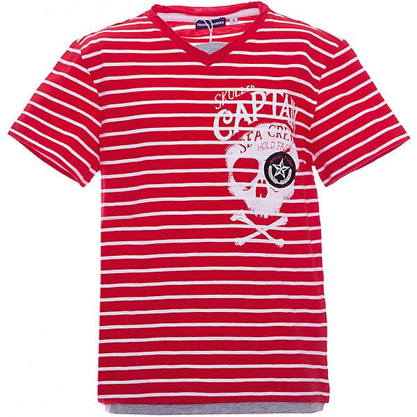 Футболка Original Marines для мальчикаФутболки, поло и топы<br>Характеристики товара:<br><br>• цвет: красный;<br>• состав ткани: 100% хлопок;<br>• сезон: лето;<br>• короткие рукава;<br>• страна бренда: Италия.<br><br>Полосатая хлопковая футболка для ребенка хорошо сочетается с шортами, брюками и джинсами. Детская футболка украшена модным декором в виде принта. Принтованная футболка для детей от Original Marines - пример европейского стиля и качества. Детская одежда от европейского бренда Original Marines учитывает потребности ребенка и особенности определенного возраста. <br><br>Футболку Original Marines (Ориджинал Маринс) для мальчика можно купить в нашем интернет-магазине.<br>Ширина мм: 199; Глубина мм: 10; Высота мм: 161; Вес г: 151; Цвет: розовый; Возраст от месяцев: 120; Возраст до месяцев: 120; Пол: Мужской; Возраст: Детский; Размер: 140,128; SKU: 8492617;