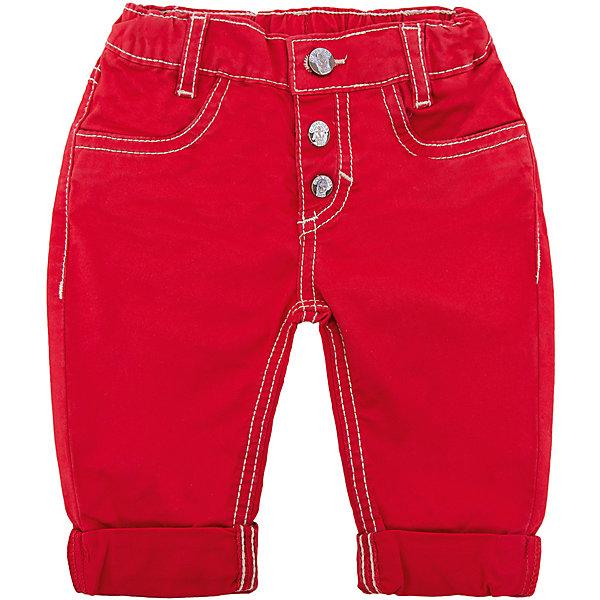 Брюки Original Marines для мальчикаДжинсы и брючки<br>Характеристики товара:<br><br>• цвет: красный;<br>• состав ткани: 98% хлопок, 2% эластан;<br>• сезон: демисезон;<br>• талия: резинка, пуговица;<br>• шлевки;<br>• страна бренда: Италия.<br><br>Яркие детские брюки отличаются наличием подворотов и стильным внешним видом, с их помощью можно создать оригинальный образ. Брюки для детей легко надеваются благодаря  мягкой резинке в талии, которая не давит на живот. Брюки для ребенка от Original Marines выполнены в яркой расцветке, дополнены шлевками для ремня. Такие брюки для детей от известного итальянского бренда Original Marines - пример европейского стиля и качества.<br><br>Брюки Original Marines (Ориджинал Маринс) для мальчика можно купить в нашем интернет-магазине.