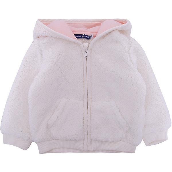 Куртка Original Marines для девочкиВерхняя одежда<br>Характеристики товара:<br><br>• цвет: розовый<br>• пол: девочки<br>• состав ткани верха: 100% полиэстер<br>• подкладка: 95% Хлопок, 5% Эластан<br>• застежка: молния<br>• карманы<br>• с длинными рукавами<br>• капюшон<br>• интересный дизайн<br>• страна бренда: Италия<br><br>Оригинальная и очень уютная толстовка  для девочки поможет разнообразить гардероб ребенка и обеспечить тепло в прохладную погоду. Она отлично сочетается с другими предметами детского гардероба. Капюшон оформлен в виде забавного зверька с ушками, ваша малышка не останется незамеченной и будет радовать глаз.  Дополнена качественной молнией и двумя карманами.<br><br>Итальянский бренд Original Marines - это стильный продуманный дизайн и неизменно высокое качество исполнения. <br><br>Толстовку Original Marines (Ориджинал Маринс) для девочки можно купить в нашем интернет-магазине.<br>Ширина мм: 356; Глубина мм: 10; Высота мм: 245; Вес г: 519; Цвет: бежевый; Возраст от месяцев: 3; Возраст до месяцев: 6; Пол: Женский; Возраст: Детский; Размер: 62/68,86,80,56/62,68/74; SKU: 8492829;