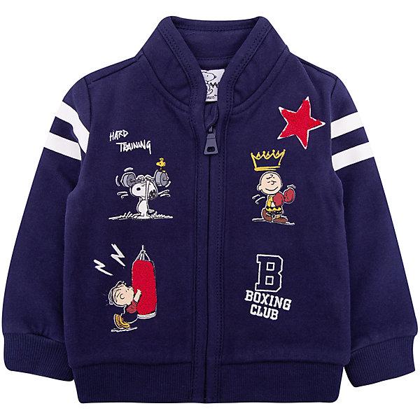 Куртка Original Marines для мальчикаВерхняя одежда<br>Характеристики товара:<br><br>• цвет: синий<br>• пол: мальчики<br>• состав ткани: 100% хлопок<br>• застежка: молния<br>• карманы<br>• с длинными рукавами<br>• веселый детский принт<br>• страна бренда: Италия<br><br>Оригинальная и очень уютная толстовка  для мальчика поможет разнообразить гардероб ребенка и обеспечить тепло в прохладную погоду. Она отлично сочетается с другими предметами детского гардероба. Модель выполнена в синем цвете с веселым детским рисунком спереди, ваш малыш не останется незамеченным и будет радовать глаз.  Дополнена качественной молнией и двумя карманами.<br><br>Итальянский бренд Original Marines - это стильный продуманный дизайн и неизменно высокое качество исполнения. <br><br>Толстовку Original Marines (Ориджинал Маринс) для мальчика можно купить в нашем интернет-магазине.