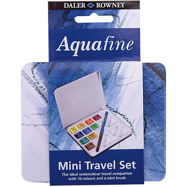 Daler Rowney Дорожный набор акварельных красок Aquafine, 12 предметов